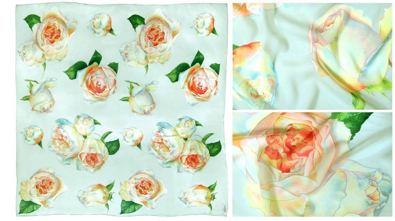 Fabric Frontline, Zurich - Big Roses (acqua)