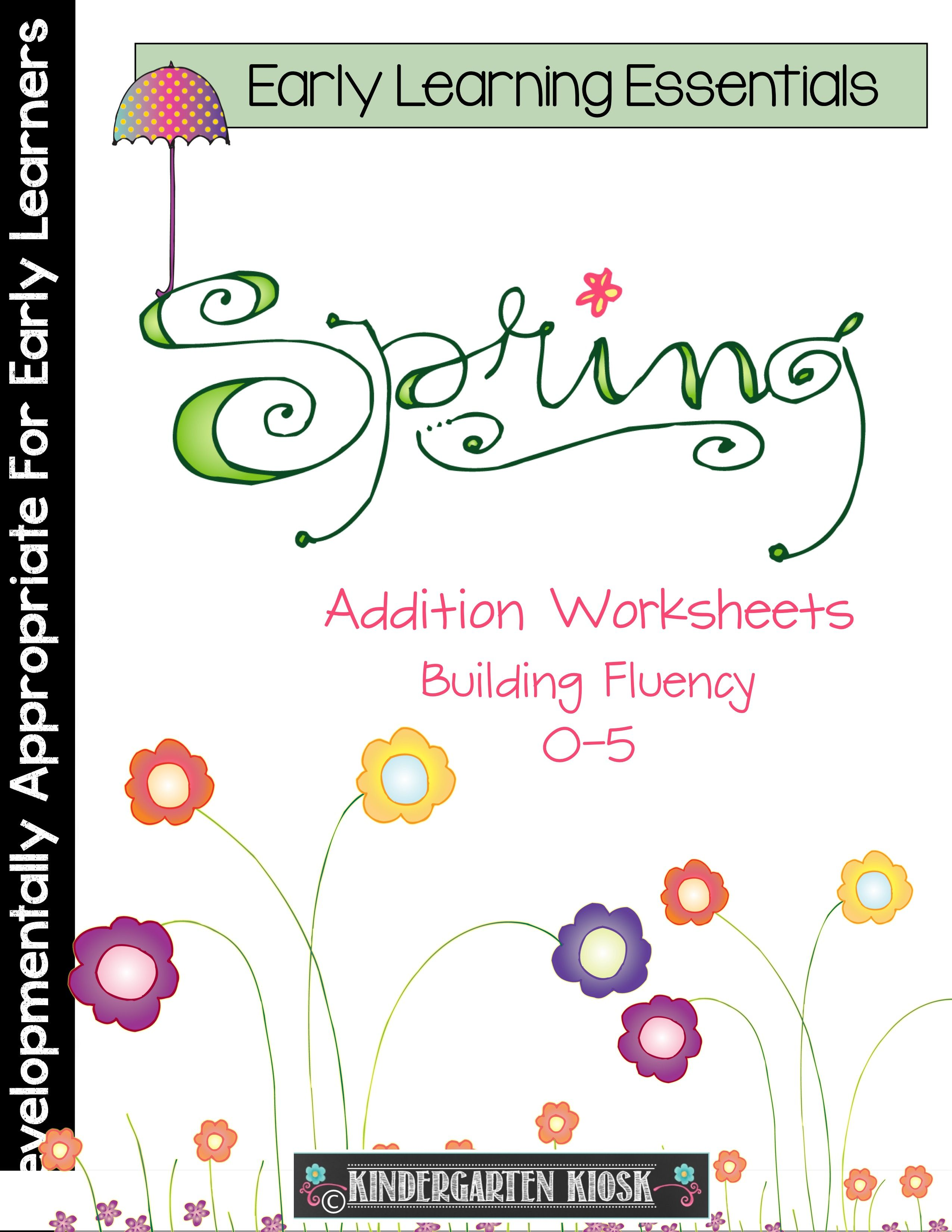 Addition Worksheets Spring
