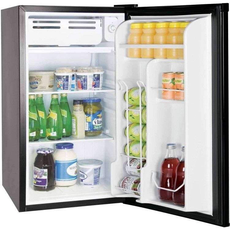 Compact Refrigerator Freezer Mini Fridge Ft Cu Dorm Office Stainless Steel  Black #Igloo Part 39