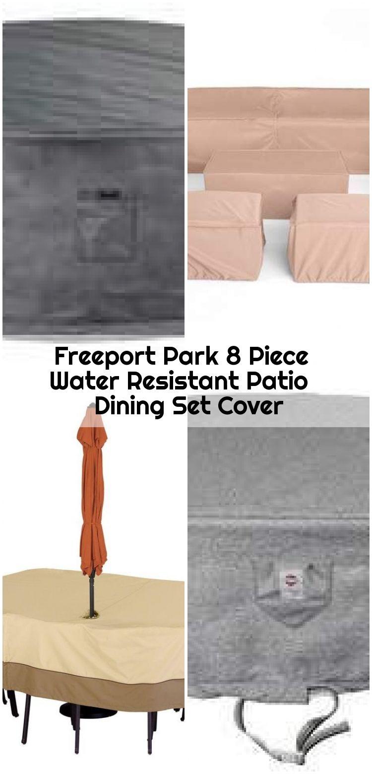 Freeport Park 8 Piece Water Resistant Patio Dining Set Cover Cover Dining Freeport Park