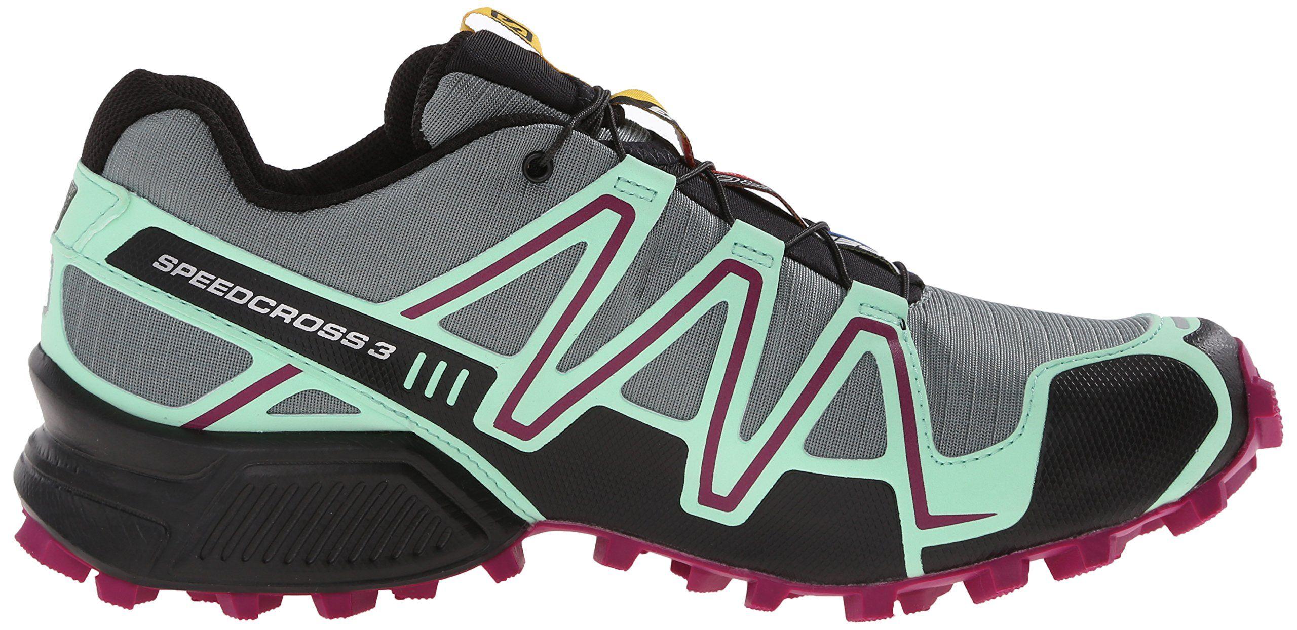 70355ce57ef4 Salomon Womens Speedcross 3 CS W Trail Running Shoe Light TT Lucite Green Mystic  Purple 5 B US -- See this great product.(It is Amazon affiliate link)   ...