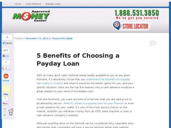 5 Benefits of Choosing a Payday Loan Payday loans
