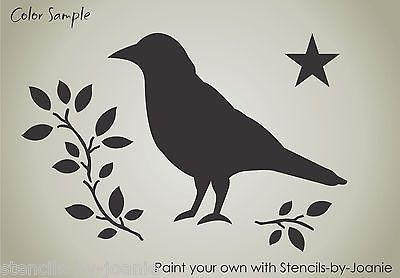 Stencil Crow Blessings Primitive Folk Art  Country Family Art Signs You Paint