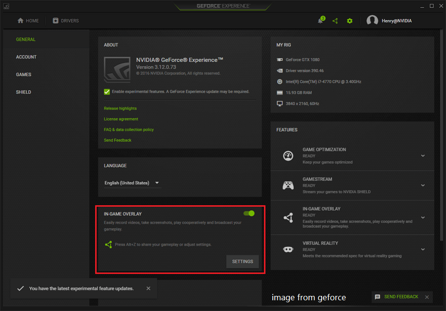 How To Disable Nvidia Overlay In Geforce Experience Nvidia Overlays Graphic Card