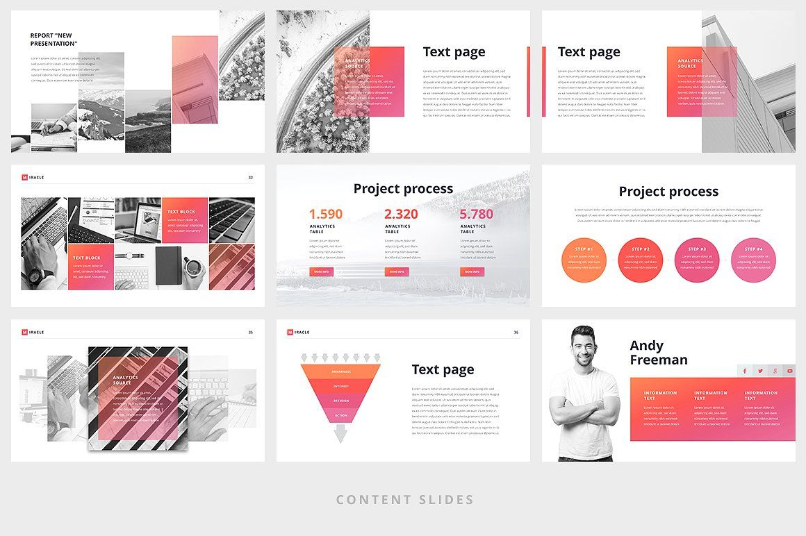 miracle modern powerpoint template by site2max on creativemarket