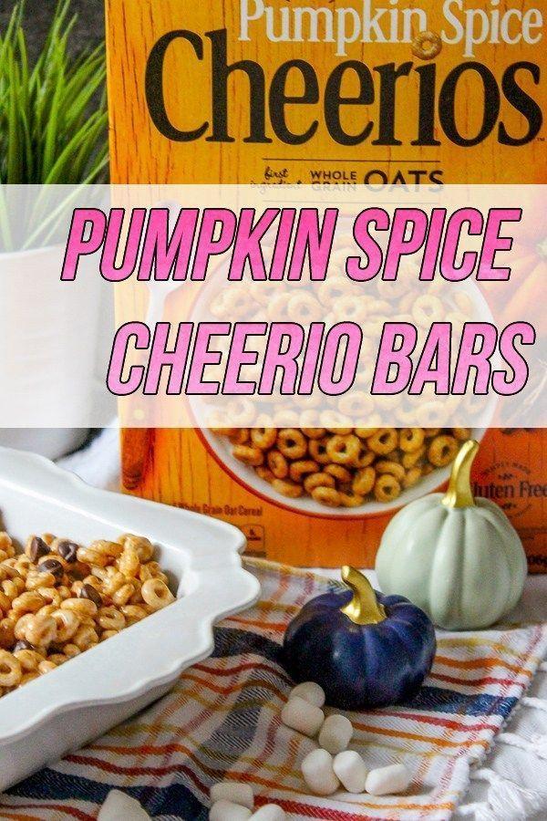 Pumpkin Spice Cheerio Bars Recipe Pumpkin, Pumpkin