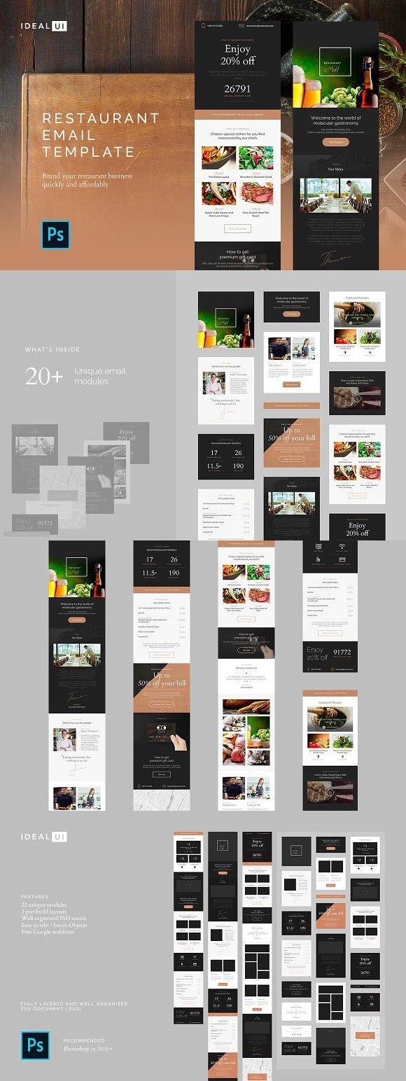 Restaurant Email Template. Email Templates   Email Templates ...