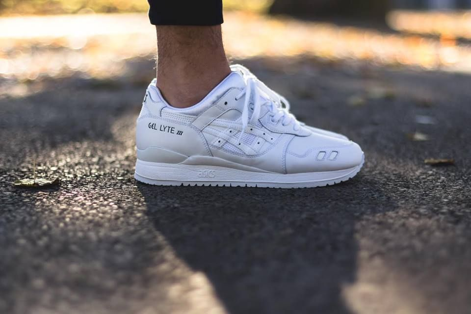 Asics Gel Lyte IIIs in a much-needed white on white colorway.
