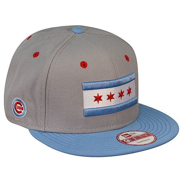 4355ce4cd6b Chicago Cubs Snapback Grey   Sky Blue 59Fifty Hat with Chicago Flag by New  Era  Chicago  Cubs  ChicagoCubs  Wrigley  WrigleyField  Wrigleyville   ChicagoFlag ...