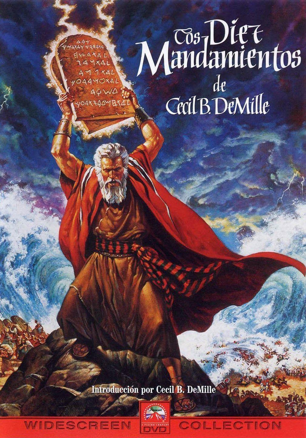 Los Diez Mandamientos 1956 Hd 1080p Latino Mega Movie Posters Old Movies Christian Movies