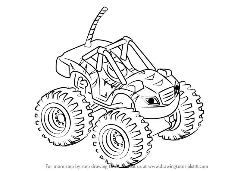 How To Draw Stripes From Blaze And The Monster Machines