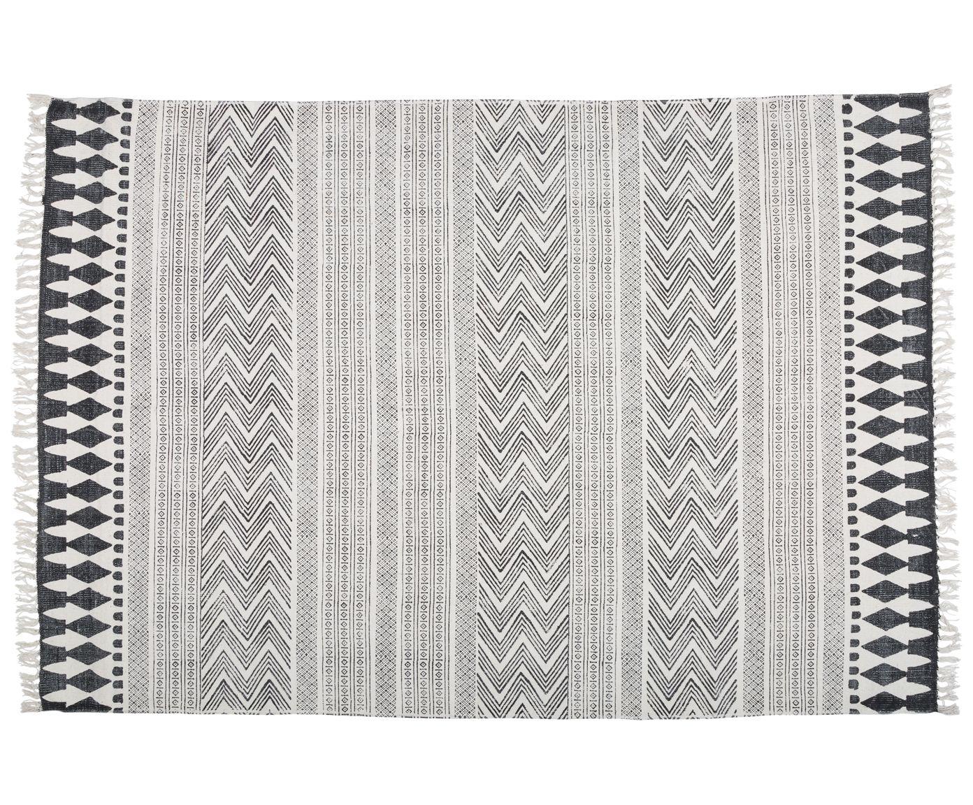 handbedruckter teppich block wohnung pinterest schwarzer teppich teppich schwarz wei und. Black Bedroom Furniture Sets. Home Design Ideas