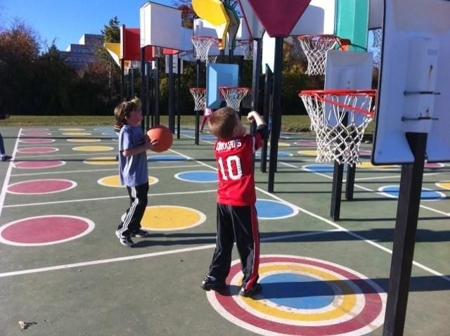 Children Playing On A Bankshot Court Basketball Court Playgrounds Architecture Recreational Parks