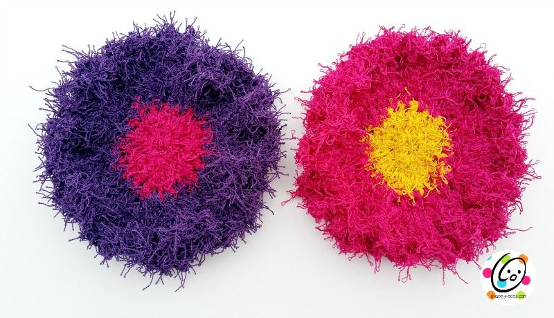 Free Pattern: Scrubby Yarn Review and Flower Scrubbers