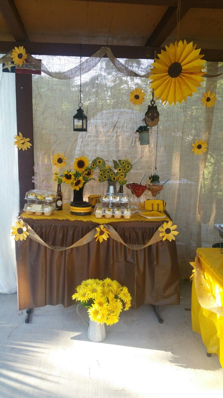 Pin By Clarisa Reyes On Sunflower Party Theme In 2019 Sunflower Party Themes Birthday Party