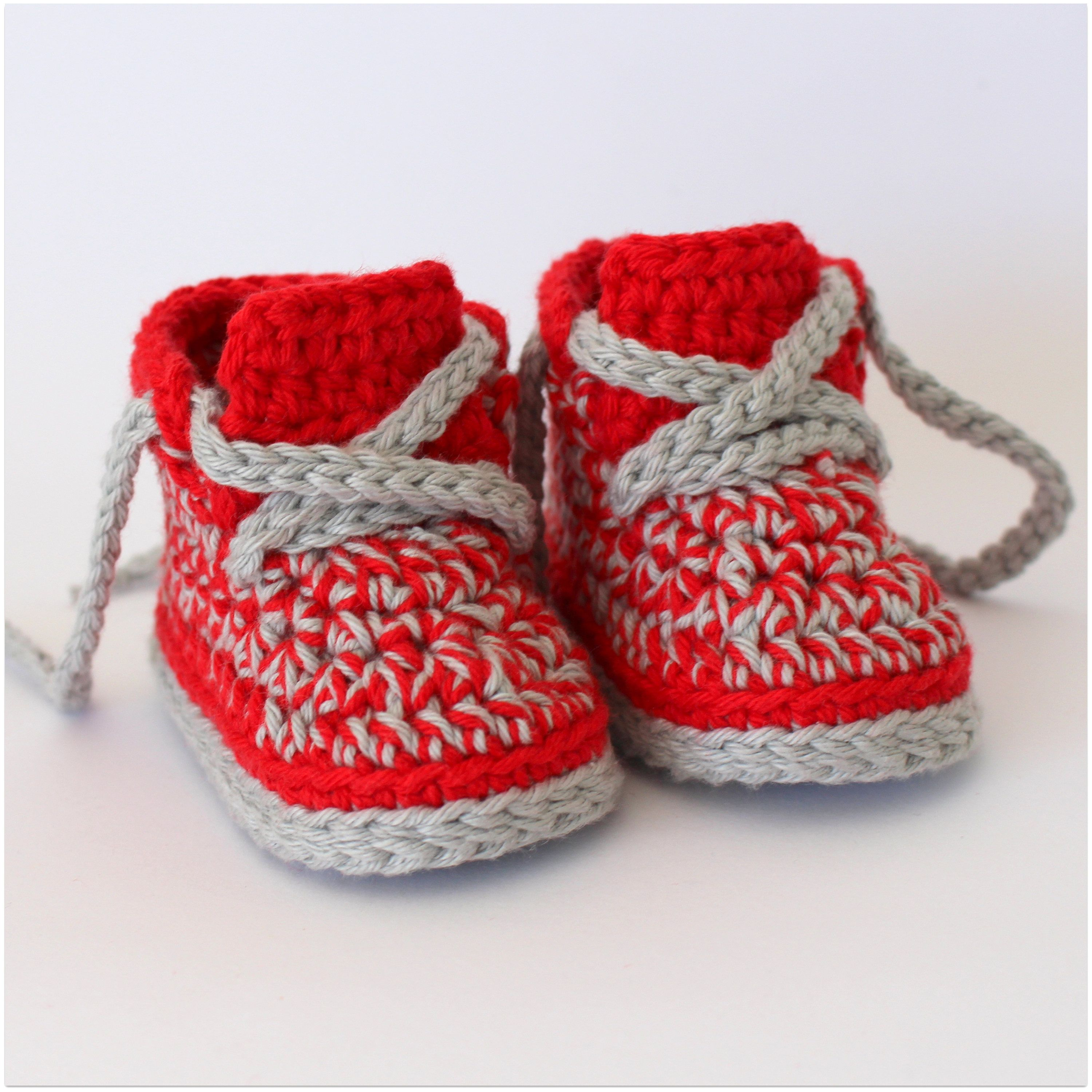 Red baby sneakers newborn booties christmas baby t christmas