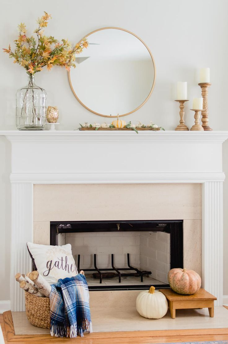 Photo of Simple Fall Fireplace Decor {video} – The Home I Create