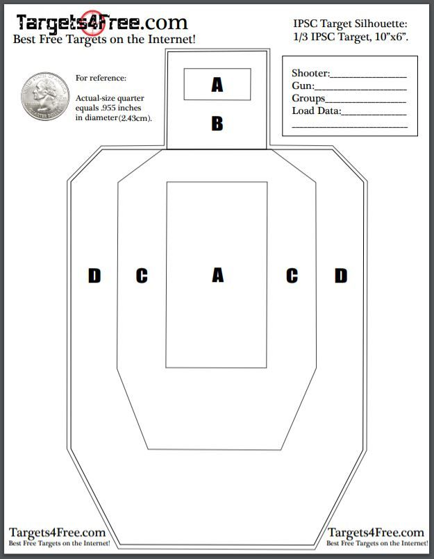 graphic regarding Printable Shooting Targets 11x17 called Pin upon Totally free Printable Taking pictures Objectives