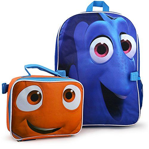 Disney Finding Dory 16 backpack With Lunch kit    This is an Amazon  Affiliate link. See this great product. ebab2aeb97786