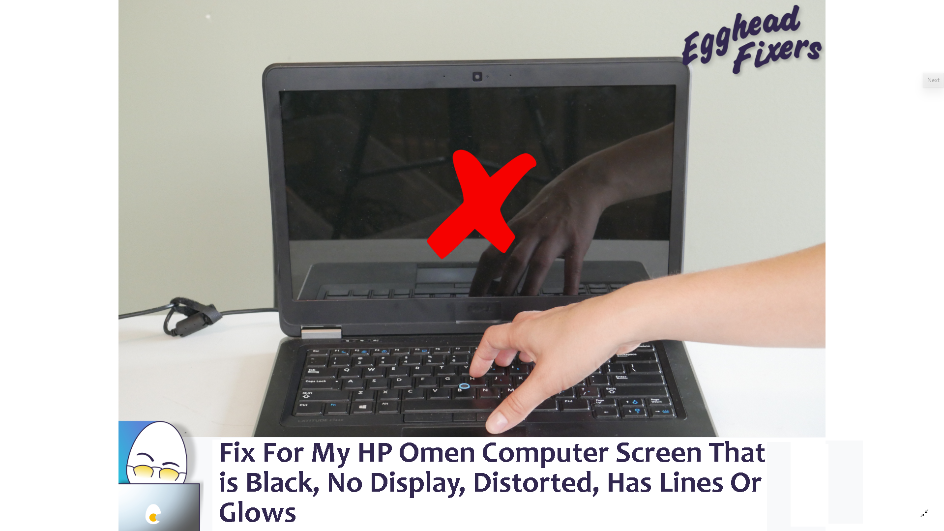 Fix For My Hp Omen Computer Screen That Is Black No Display Distorted Has Lines Or Glows Lenovo Computer Asus Computer Alienware Computer