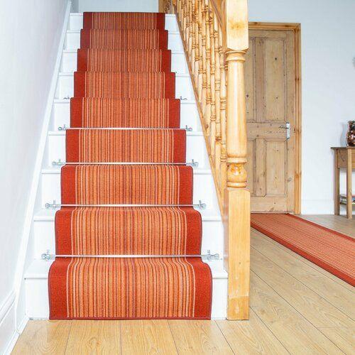 Innen-/Außenteppich Allante in Terrakotta Rosalind Wheeler Teppichgröße: Läufer 66 x 660 cm #stainedwood