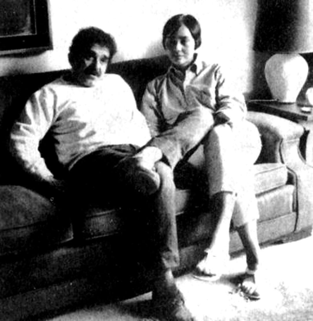 Gabriel Garcia Marquez y su mujer
