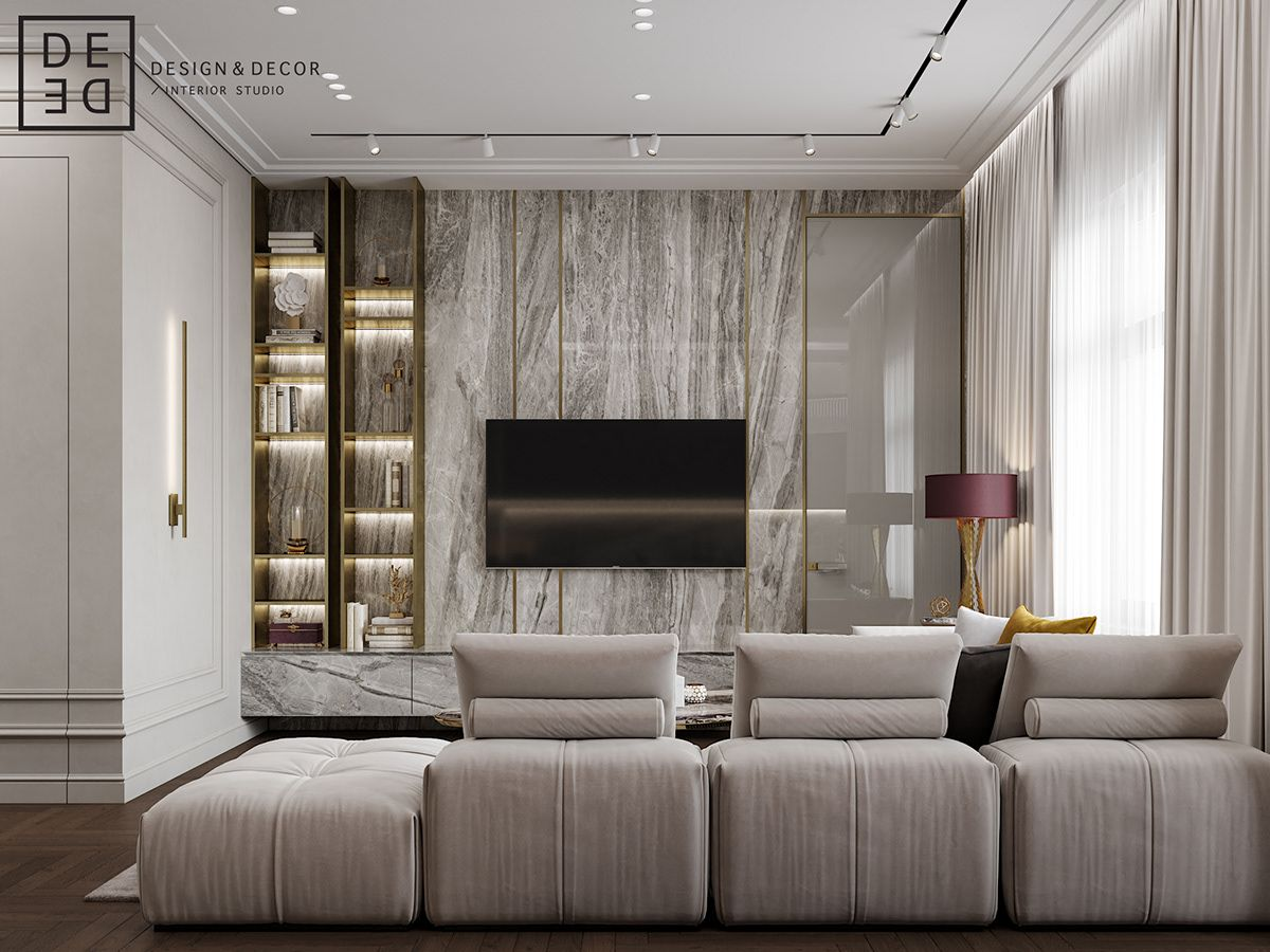 DE&DE/Fusion apartment on Behance | Luxury living room ...