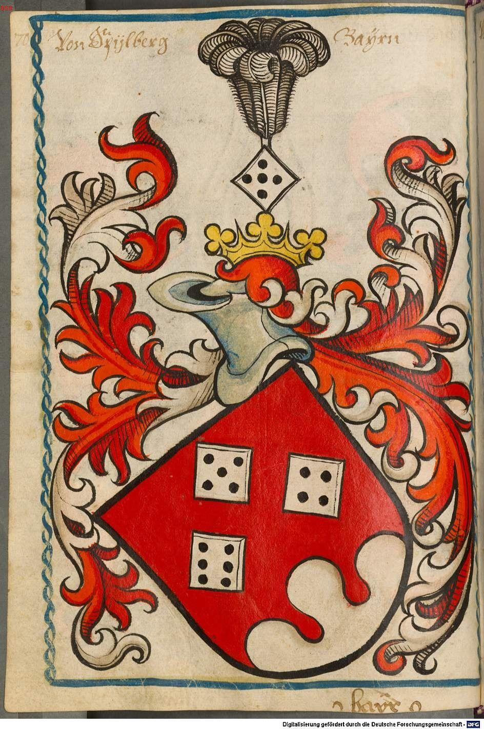 Scheibler'sches Wappenbuch Süddeutschland, um 1450 - 17. Jh. Cod.icon. 312 c  Folio 70