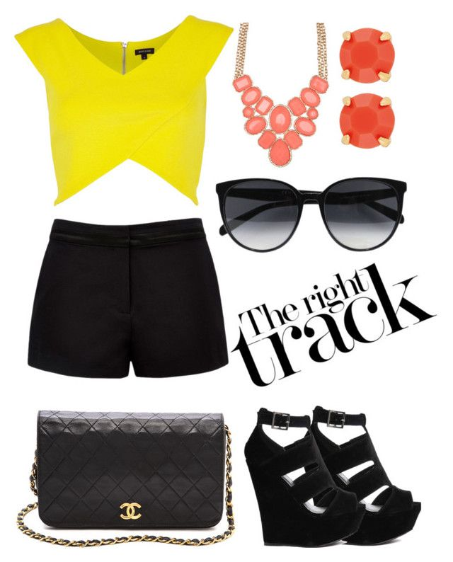 """""""#33 The right track"""" by rosaisela-98 on Polyvore featuring moda, Truffle, River Island, Forever New, Chanel, CÉLINE, ALDO y Henri Bendel"""