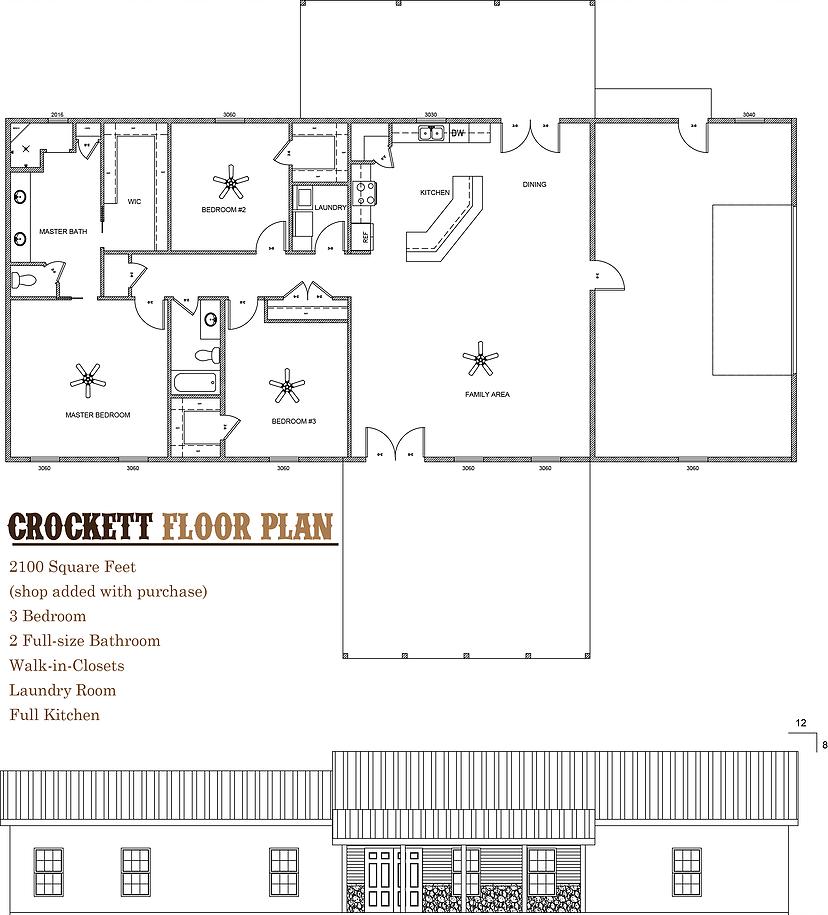 Crockett Foor Plan Barndominium Built By Rau Builder Barndominium Floor Plans Metal House Plans Barndominium Plans