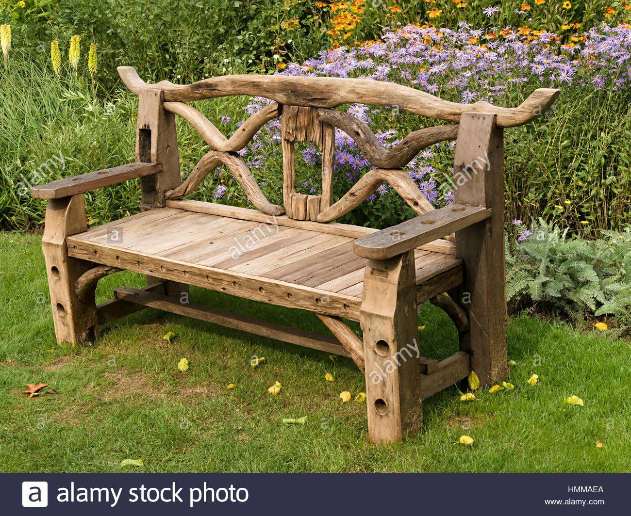 Enhance Your Garden With Wooden Garden Benches Decorifusta In 2020 Wooden Bench Outdoor Rustic Wooden Bench Rustic Wood Bench