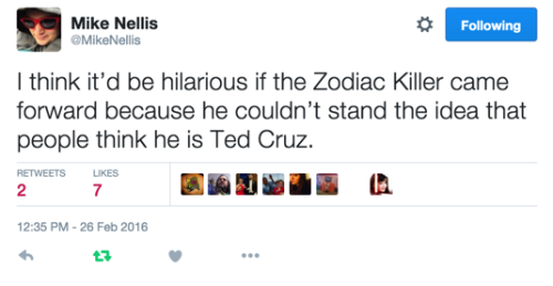 Zodiac Killer (via MikeNellis)