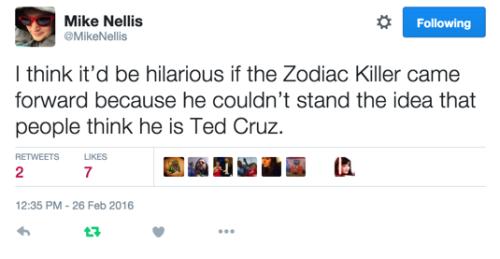 Zodiac Killer (via MikeNellis)