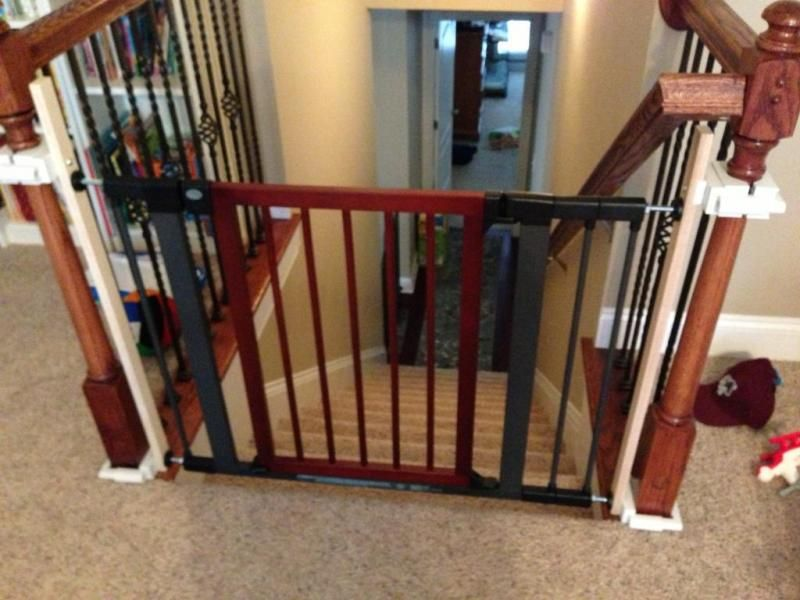 Black And Red Baby Gates For Stairs With No Walls Metal