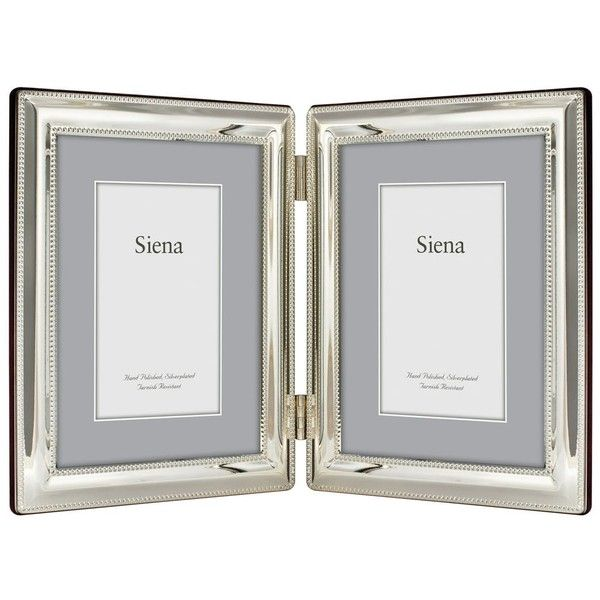 This hinged double frame from Siena is detailed with an elegant ...