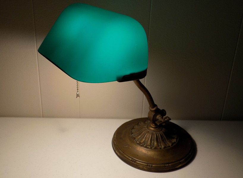 1916 emeralite 8734 type ac bankers lamp double knuckle green glass 1916 emeralite 8734 type ac bankers lamp double knuckle green glass shade desk audiocablefo
