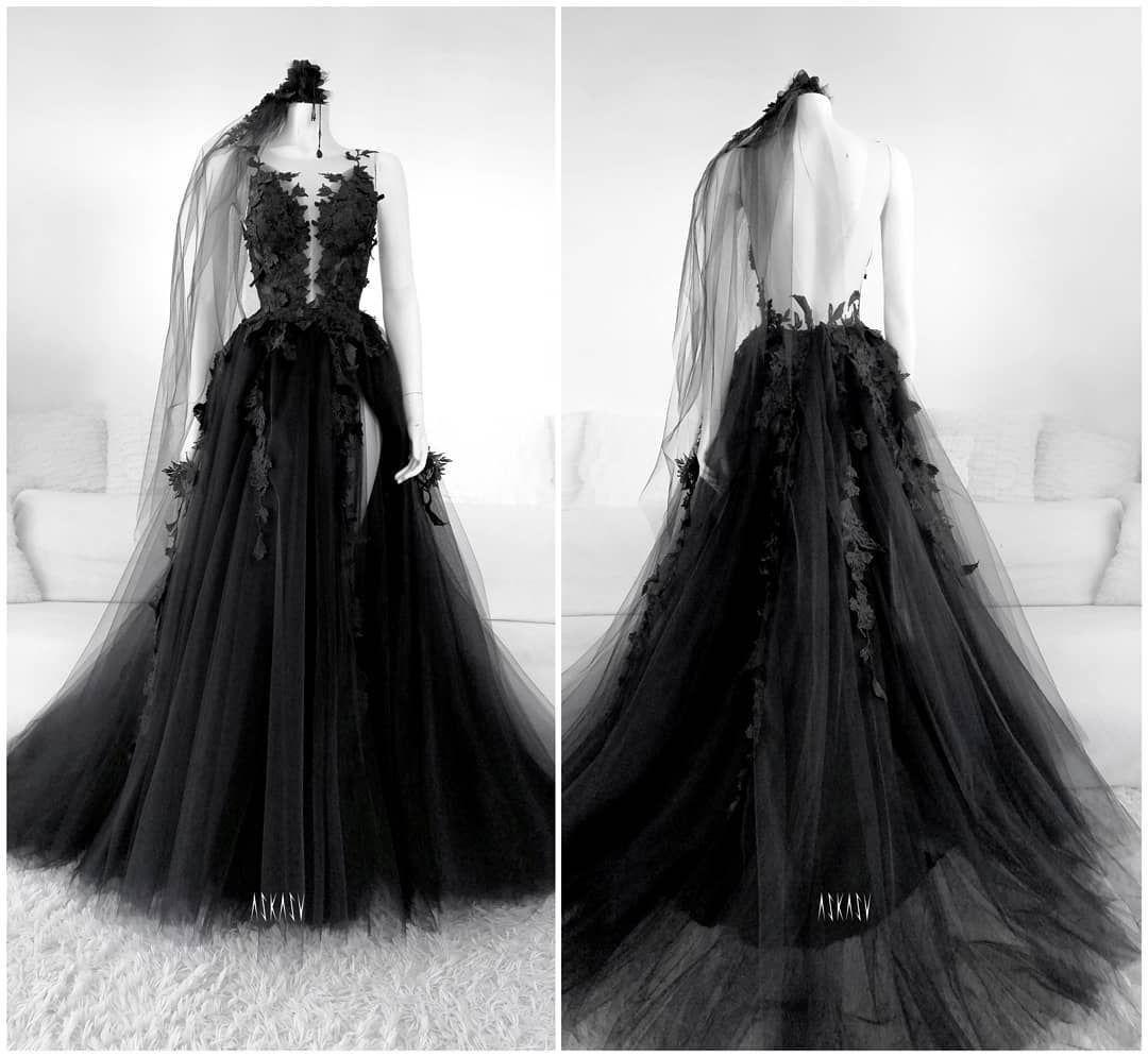Balna Roklya Bridal Gowns Vintage Black Wedding Gowns Black Wedding Dresses