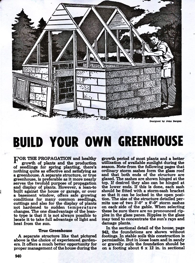 backyard greenhouse plans from a diy book of home projects