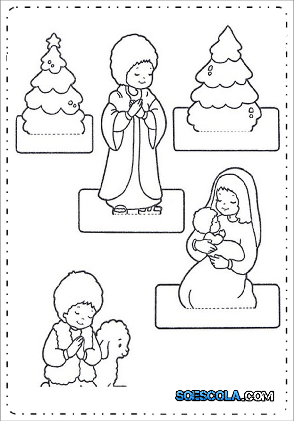Moldes De Presepio De Natal Para Imprimir E Montar Modelos Em