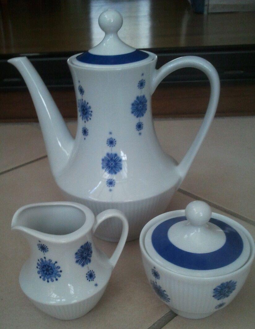 Mitterteich Bavaria Porzellan * Tee-/Kaffeekanne mit Milch + Zucker ...