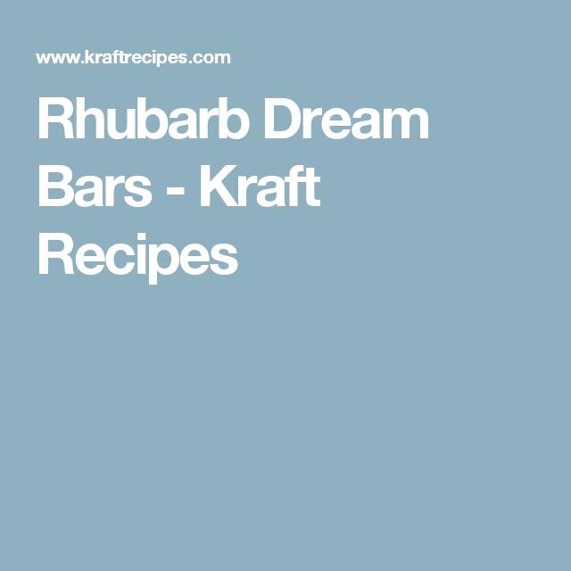Rhubarb Dream Bars - Kraft Recipes