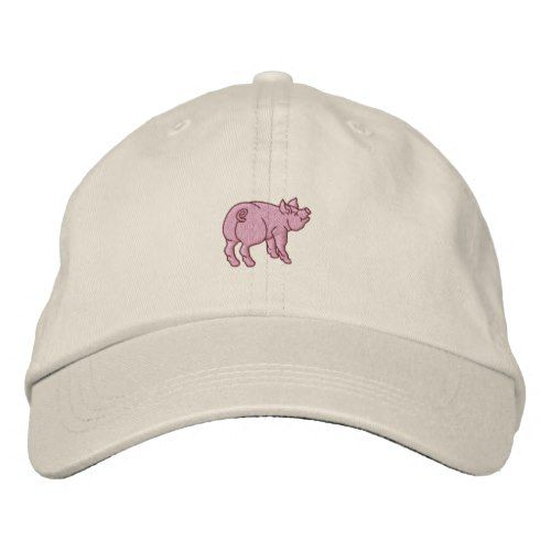 Custom Snapback Hats for Men /& Women Pink Piggy Embroidery Cotton Snapback
