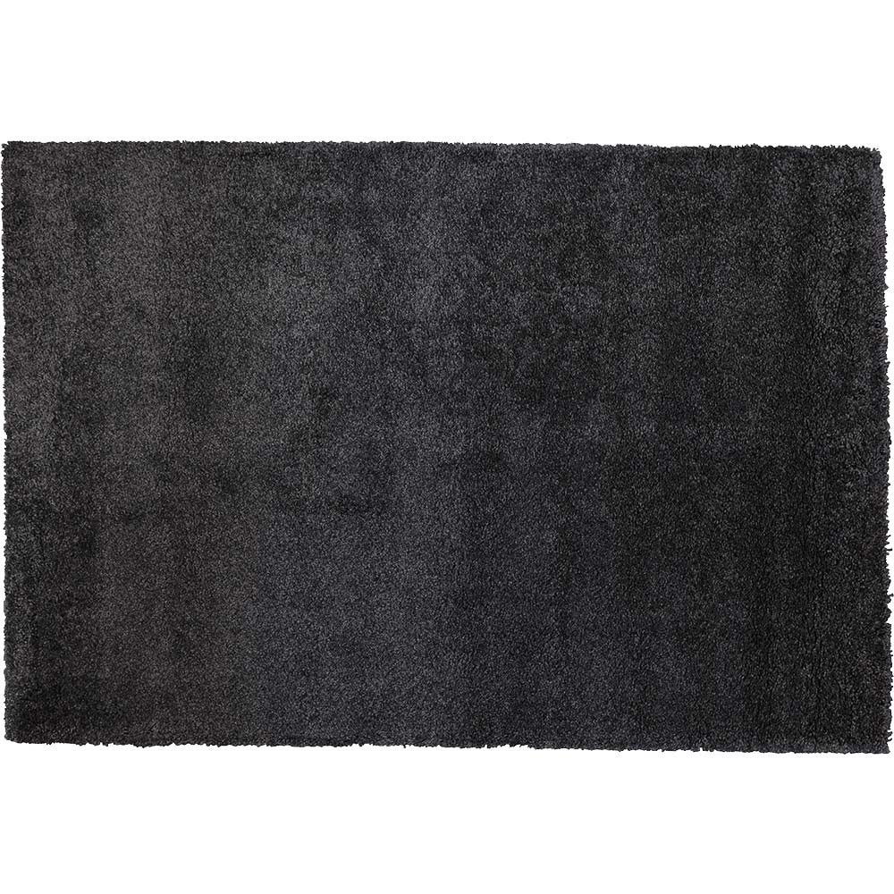 tapis poils longs teufte gris