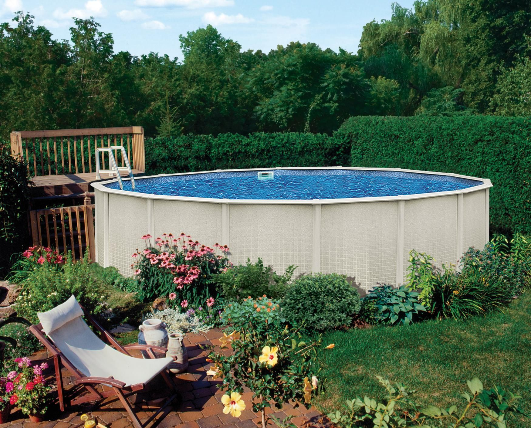 Above ground pool backyard ideas belize 15 39 x30 39 oval for Above ground pool decks las vegas