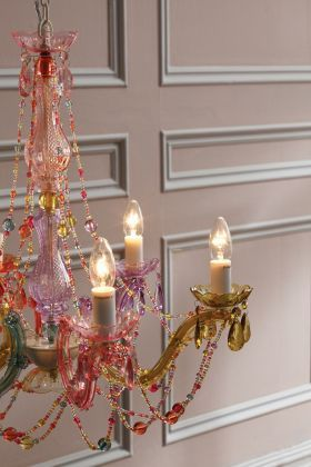 Tesco Direct Leitmotiv Pastel Multi-coloured Chandelier, £69.97 ...