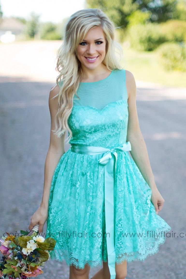 Turquoise filly flair bridesmaids dresses country jewel backless
