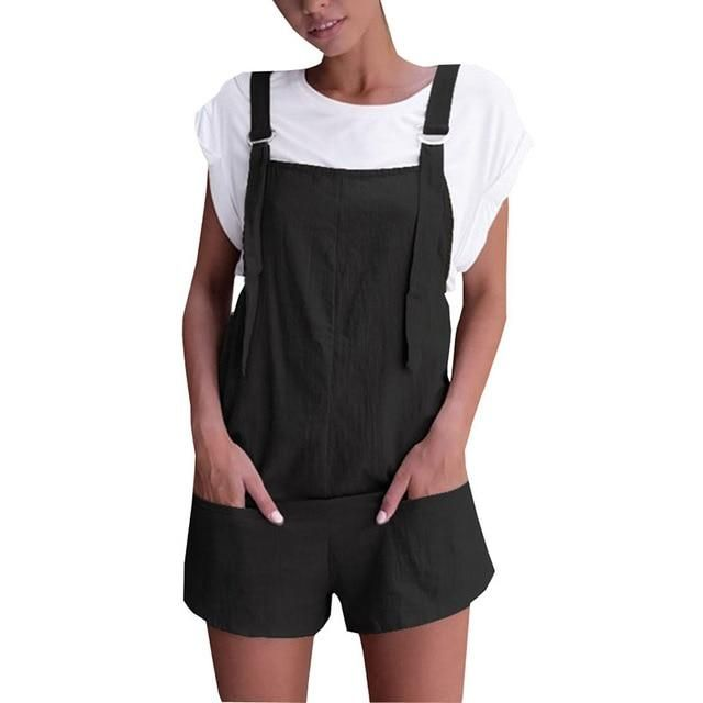 Womens Overalls Jumpsuit Shorts