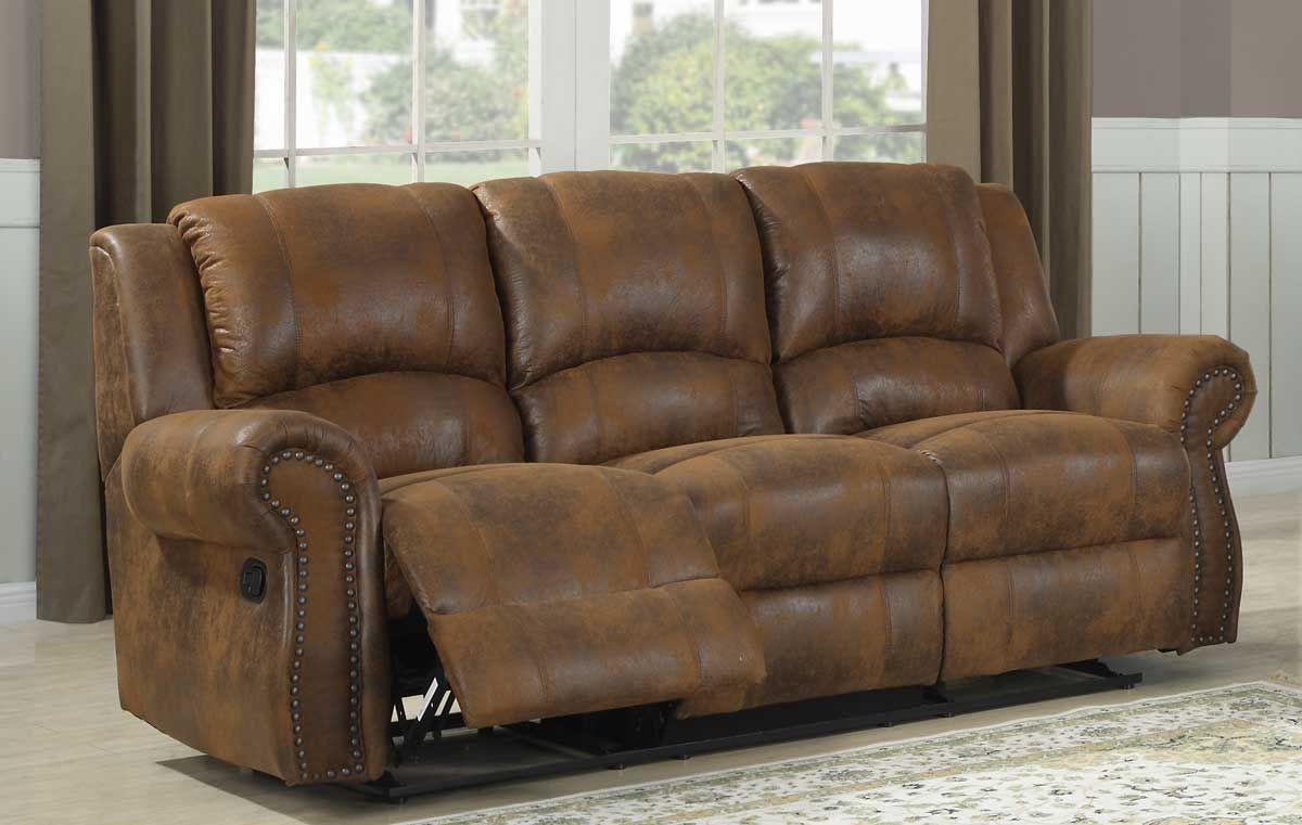 Microfiber Reclining Sofa Modern