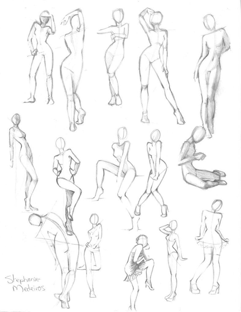 Full Body Poses Drawing : poses, drawing, Practice, Catnip08, DeviantART, Reference, Poses,, Drawing, Poses