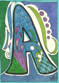 Mary Walker Designs: Zentangle Alphabet